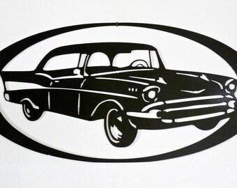 1957 Chevy - Wall Art - Metal Art - Home Decor - Car Art -  Makes a GREAT gift!