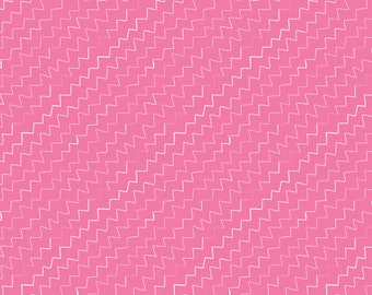 Hand drawn Zig Zags on Pink - Permanent Glossy or Permanent Matte Vinyl