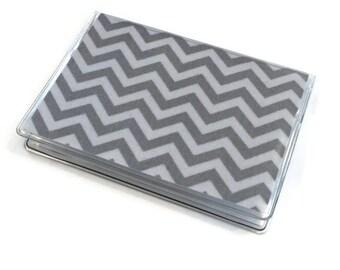 Card Case Mini Wallet Gray Chevron