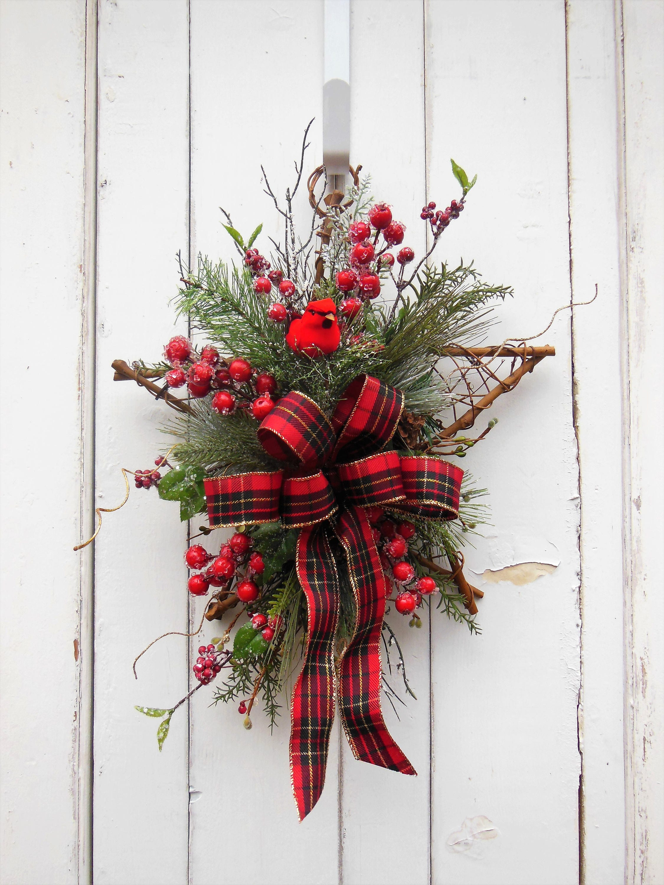 home doors wreath worcester christmas balsam inch maine wreaths amazon com kitchen highland dp door