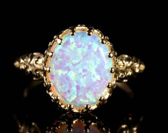 Opal 9ct Gold Ring 6ct Opal