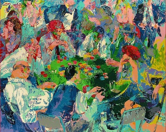 LeRoy NEIMAN 'STUD POKER' limited edition Serigraph signed by the artist and numbered in pencil 266/300