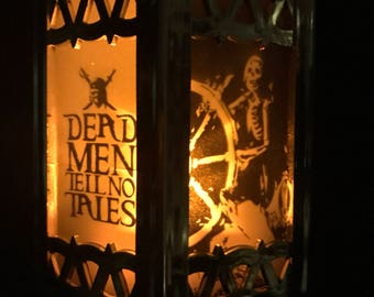 Pirates of the Caribbean ride - Inspired Battery-Operated Plastic Mini Lantern