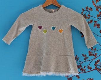 Sweatshirt dress for girl 18 months