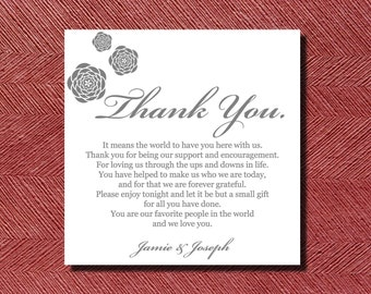 260 Printed Wedding Reception Thank You Place Setting Cards