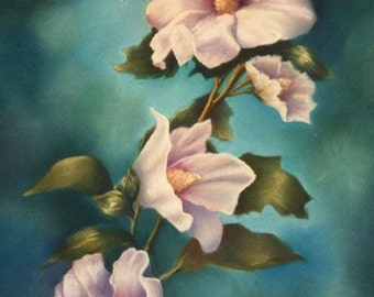 MOTHERS ROSE OF SHARON Floral Giclee Mini Print