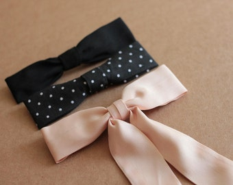 Thin Bow tie Pattern PDF Sewing - 2 patterns included - DIY bow tie
