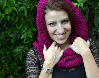 Mulberry cowl, crochet cowl, winter cowl,  infinity scarf, womens cowl, neck warmer, crochet scarf, loop scarf, crochet scarves, fashion