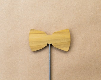 Wood Bow Tie (Natural)