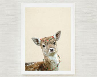 Boho Nursery Decor forest nursery art Fawn Print / Nursery Wall Art baby deer print / Fawn Printable Nursery Prints / Nursery Woodland