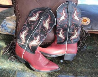 Awesome Tony Lama Western Boots, Womens, Bohemian Rockin',  Sz8US