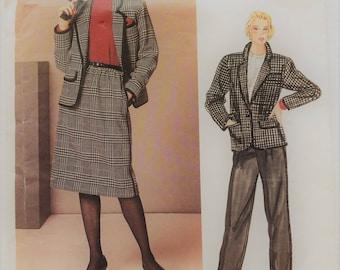 Vintage Calvin Klein Vogue American Designer sewing pattern 1238 - Misses' skirt, jacket and pants - size 12
