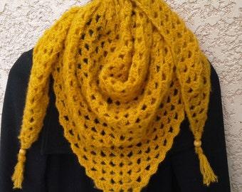 Crochet granny scarf / shawl. Hand made winter shawl.
