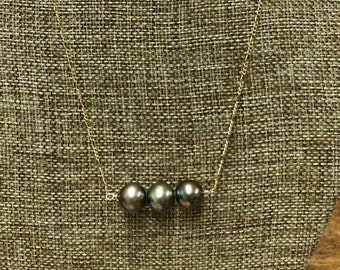 Triple Pearl Necklace