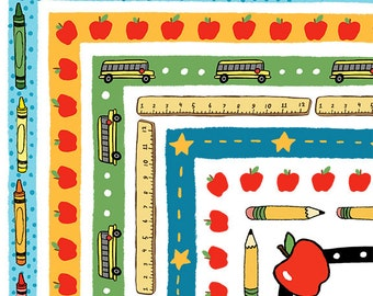 School Days Clipart Back to School Border Set for Personal and Commercial Use