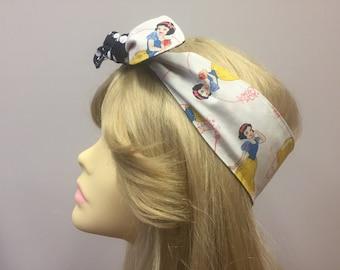 Disney Princess Snow White PinUps by Gracie Retro, Rockabilly, Vintage, Pinup styled head scarf, bandana, reversible, polka dot
