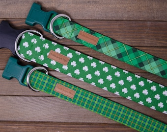 Festive St. Patrick's Day Dog Collars - The Luck of the Irish Collection