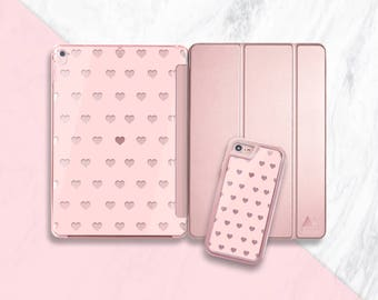 Nude Hearts iPad Pro 10.5 Case iPad Pro Smart Cover Rose Gold iPad Rose Gold iPad Pro 10.5 Case Rose Gold, Matching Phone Case Available
