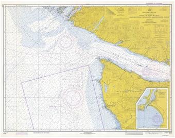 Destruction Island to Amphitrite Point 1973 Nautical Map - Washington Vancouver Island Cape Flattery Juan de Fuca PC Big Area 6102 - Reprint