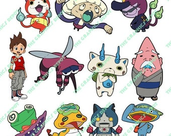 Yo Kai Watch - SVG file, DXF file, EPS file, png file - Cut Files - Layered Images - Instant Download - Cricut Explorer - Silhouette Cameo