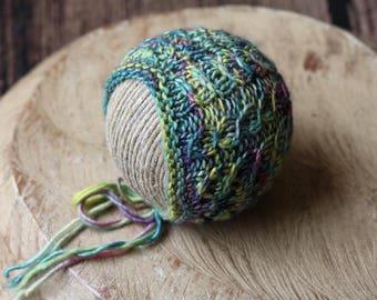 Newborn Lace Bonnet / Mini Cables Bonnet