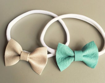 Pearl - Genuine Leather Bows
