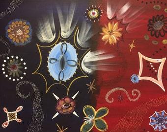 Star Crossed, Acrylic Painting 40x30
