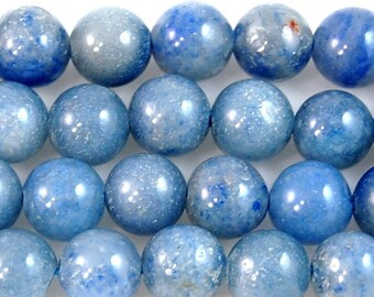 8mm Aventurine shades of Blue- 16 inch strand