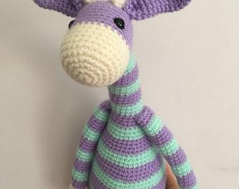 Crochet giraffe, toy giraffe, safari animal