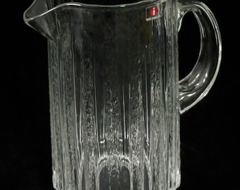 Vintage Mid Century Finnish Finland Glass Works Iittala Water Pitcher ref 19163