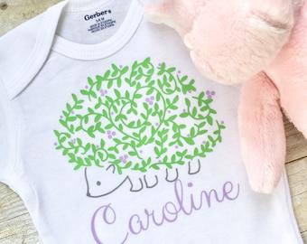 Hedgehog Onesie, Personalized Baby Onesie, Custom Newborn Onesie, Baby Girl Onesie, Personalized Baby Clothes, Newborn Clothes, Mom Gift