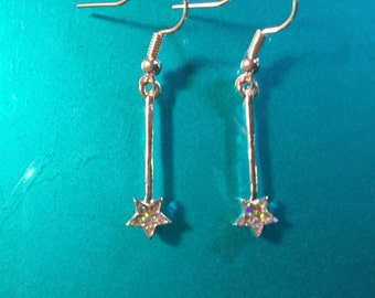 Petite Magic Fairy Wand earrings