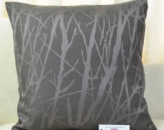 """Trees Charcoal & Lilac Cushion Cover 17"""" x17"""""""
