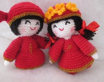 You & me : crochet,doll,wedding,idea,home,toy,gift