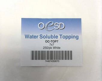 OESD Water Soluble Topping 7 x 7 250/pk White- OC-TOP7