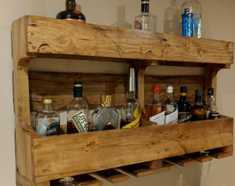 Whisky double wall rack