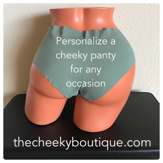 Personalize a military green panty FAST SHIPPING