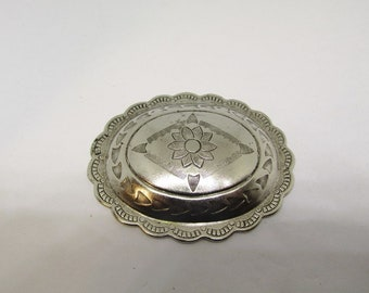 Brass concho plated pewter Oxide color #RM237