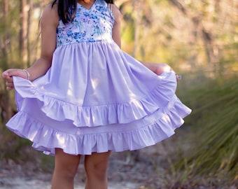 Lahaina Dress PDF Sewing Pattern Pattern, including sizes 12 months - 14 years, Girls Dress Pattern