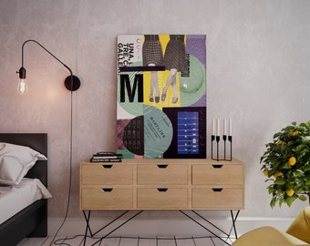 Wall art collage canvas print image - Dance