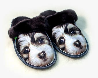 Slippers sheepskin new year of the dog 2018