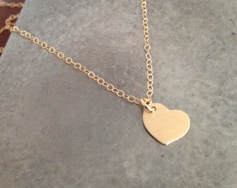 Pure in Heart - tiny heart gold filled necklace