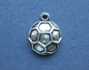 Soccer pendants etsy 5 soccer ball charms soccer ball pendant soccer sports charm ball charm mozeypictures Image collections