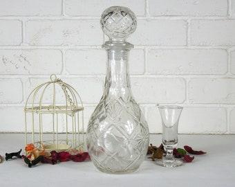 Vintage Bottle Liquor 3.5'' x 9'' (9 x 23 cm) /decanter/vintage glass bottle/bar decor