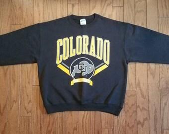 Vintage Colorado Buffaloes black crewneck sweatshirt. XL