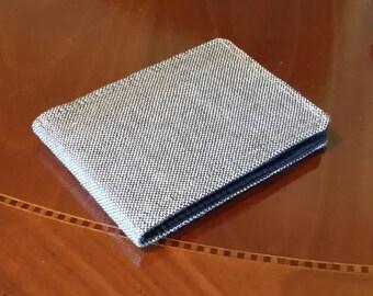 Mens Vegan Wallet Tweed Standard size Brown 7 card slots Billfold