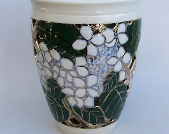 Hydrangia Double Wall Vase, One of a Kind, wheel thrown Ceramic Vase