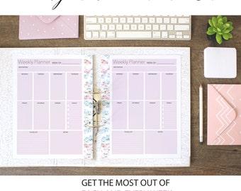 Weekly Planner Printable , Weekly Organizer, A4 Weekly Planner, Letter Size Weekly Planner, A5 Weekly Planner,  Weekly Calendar