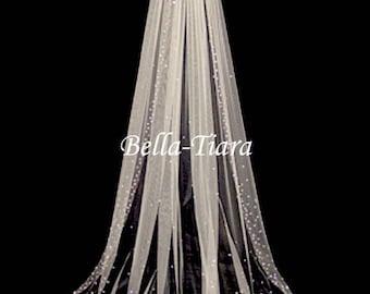 cathedral crystal veils, chapel crystal wedding veil, crystal bridal veil, crystal cathedral wedding veil, crystal cathedral veil