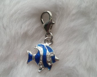 Enamel Fish Charms - Package of 5 Charms  - Clip-On - Ready to Wear